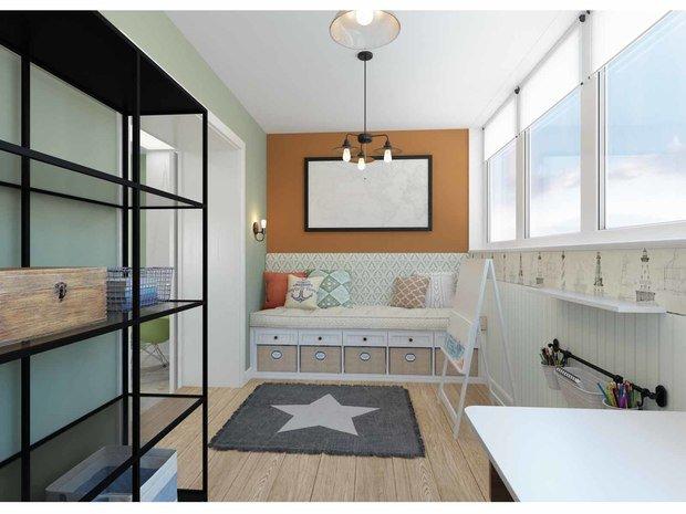 """Фото из портфолио """"Дотянуться до звезды"""". Проект квартиры 100 кв.м. – фотографии дизайна интерьеров на INMYROOM"""