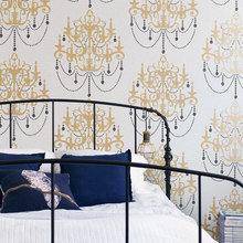 Фотография: Спальня в стиле Классический, Современный, Декор интерьера, Дизайн интерьера, Цвет в интерьере, Обои, Стены, Эко – фото на InMyRoom.ru