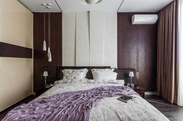 """Фото из портфолио Фото спальни реализованного проекта квартиры, расположенной в ЖК """"Адмирал"""".  – фотографии дизайна интерьеров на INMYROOM"""