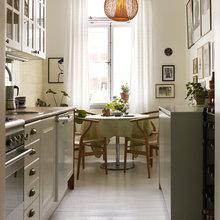 Фотография: Кухня и столовая в стиле , Малогабаритная квартира, Квартира, Швеция, Дома и квартиры – фото на InMyRoom.ru