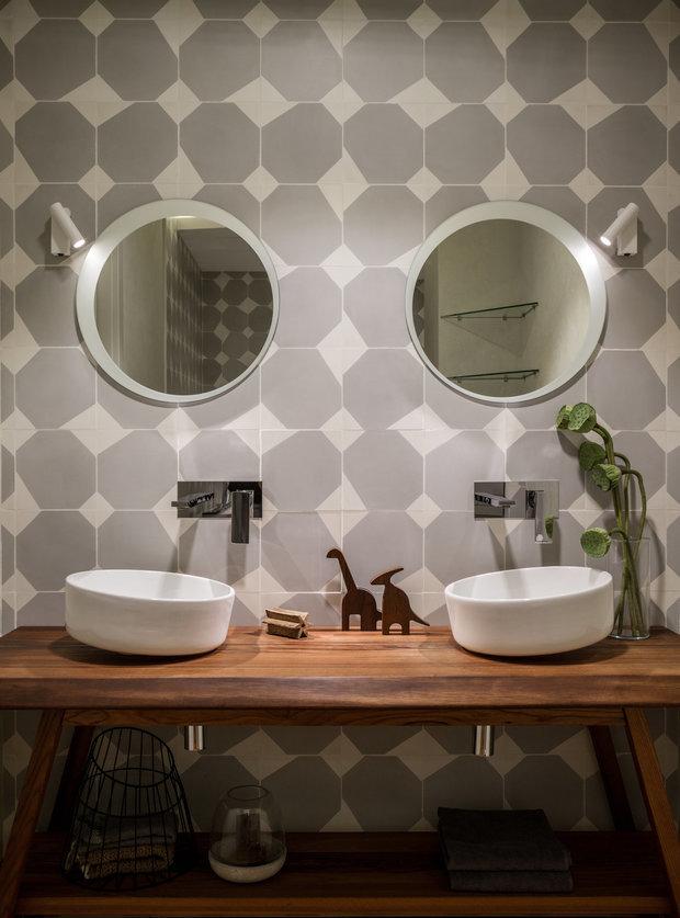 Фотография: Ванная в стиле Эко, Советы, Плитка, керамическая плитка, Гранд, плитка под дерево, плитка в ванной – фото на INMYROOM