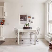 Фотография: Кухня и столовая в стиле Скандинавский, Малогабаритная квартира, Квартира, Дома и квартиры, Ретро – фото на InMyRoom.ru