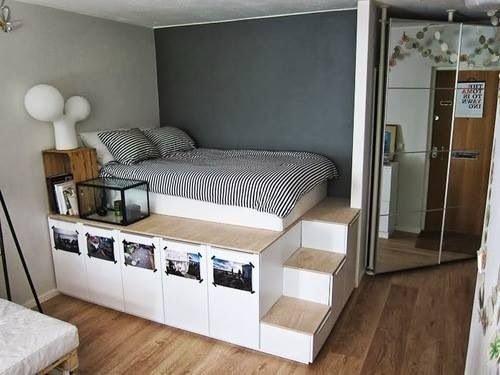 Фотография: Спальня в стиле Лофт, Интерьер комнат – фото на InMyRoom.ru