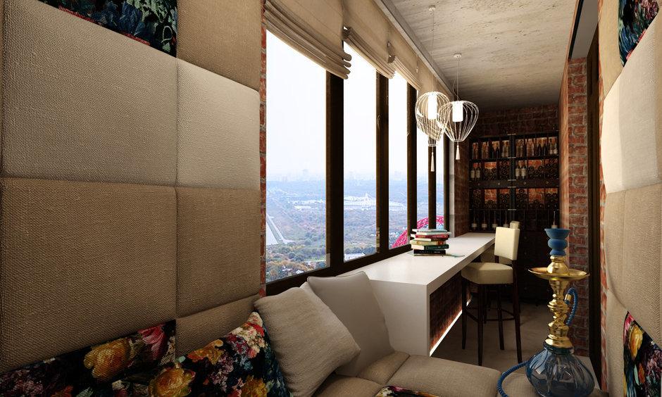 Фотография: Балкон, Терраса в стиле Восточный, Квартира, Дома и квартиры, Проект недели, Переделка – фото на InMyRoom.ru