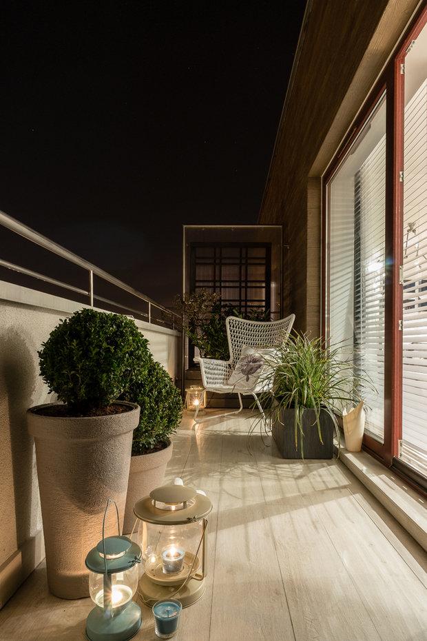 Фотография: Балкон в стиле Современный, Декор интерьера, Малогабаритная квартира, Польша – фото на InMyRoom.ru