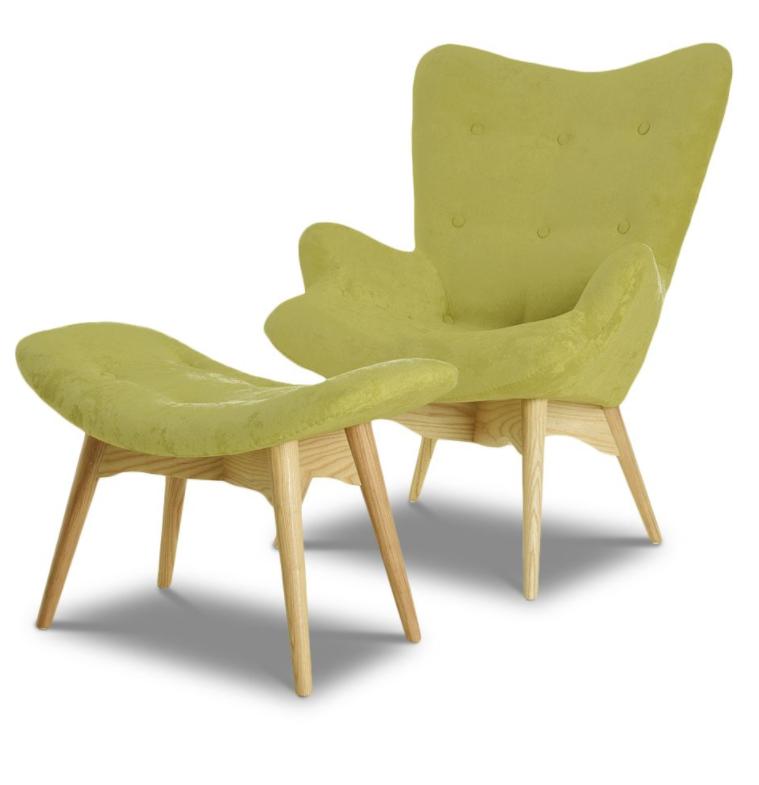 Купить Набор кресло и пуф оливковый, inmyroom, Китай