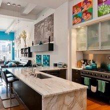 Фотография: Кухня и столовая в стиле Современный, Лофт, Декор интерьера, Квартира, Дома и квартиры, Большие окна – фото на InMyRoom.ru
