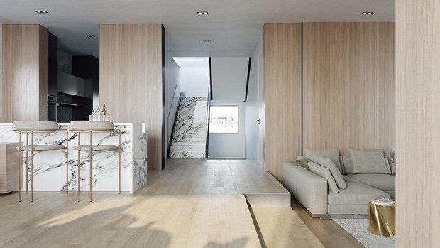 Фото из портфолио Безмятежно стильный интерьер в белых и деревянных тонах – фотографии дизайна интерьеров на INMYROOM