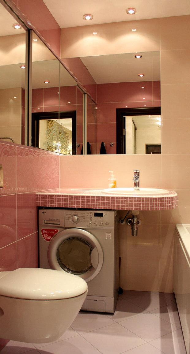 Фотография: Ванная в стиле Современный, Малогабаритная квартира, Интерьер комнат, Советы – фото на InMyRoom.ru
