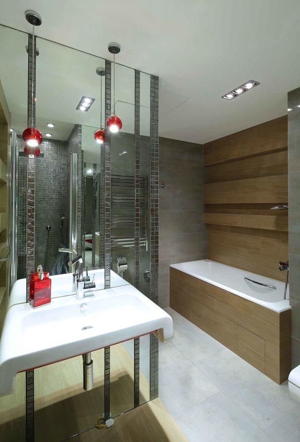 Фотография: Ванная в стиле Современный, Эко, Эклектика, Квартира, Проект недели – фото на InMyRoom.ru