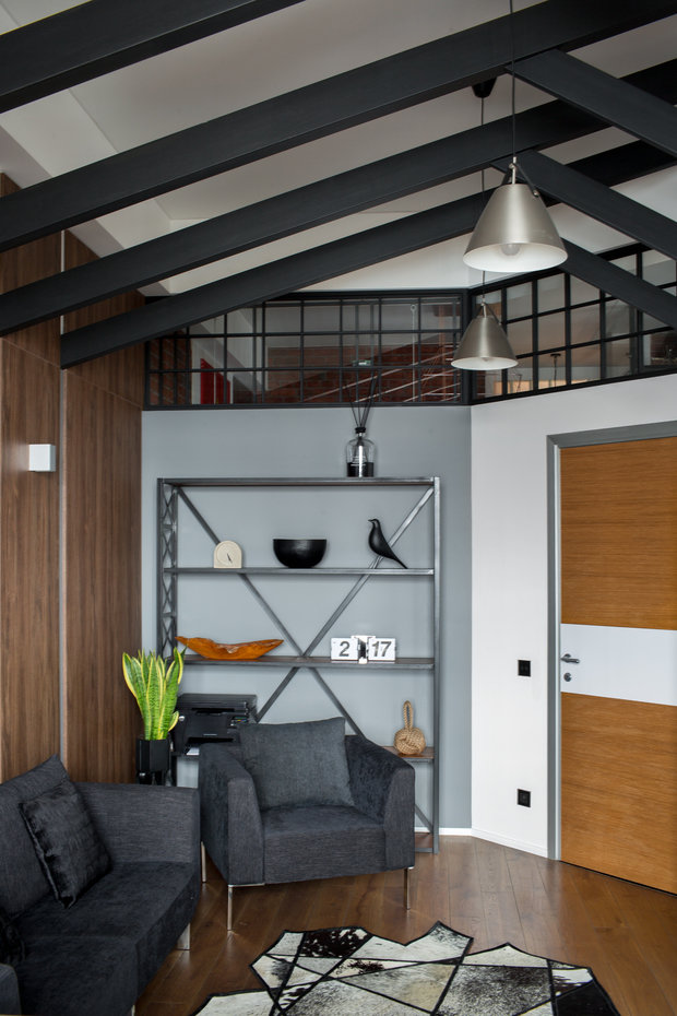 Фотография: Кабинет в стиле Лофт, Квартира, Проект недели, Пентхаус, 4 и больше, Более 90 метров, Владивосток, #эксклюзивныепроекты, Miyao Studio – фото на INMYROOM