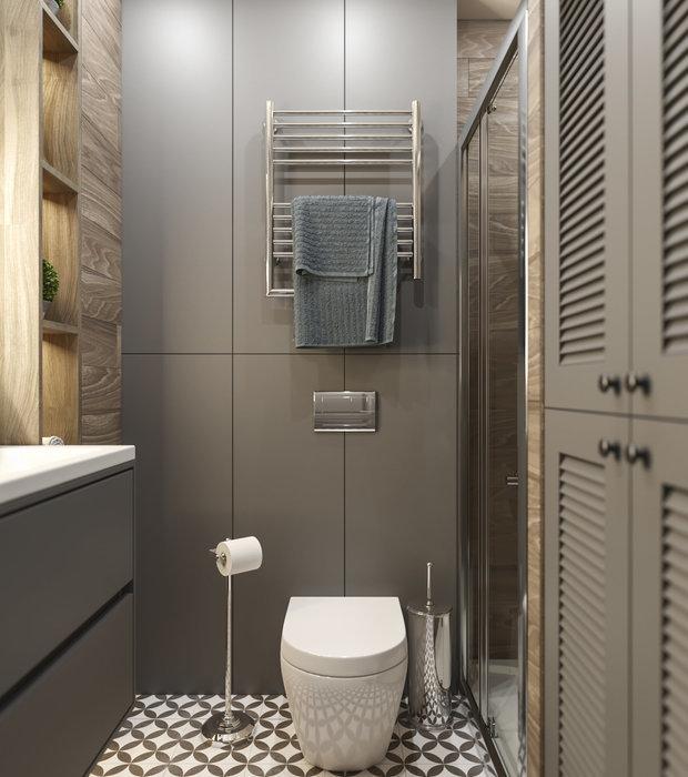 Фотография: Ванная в стиле Современный, Квартира, Перепланировка, Москва, 1 комната, до 40 метров, Алена Еременко – фото на INMYROOM