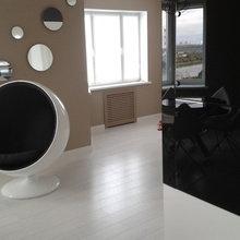 Фотография: Мебель и свет в стиле Хай-тек, Интерьер комнат, Eero Aarnio, Кресло – фото на InMyRoom.ru