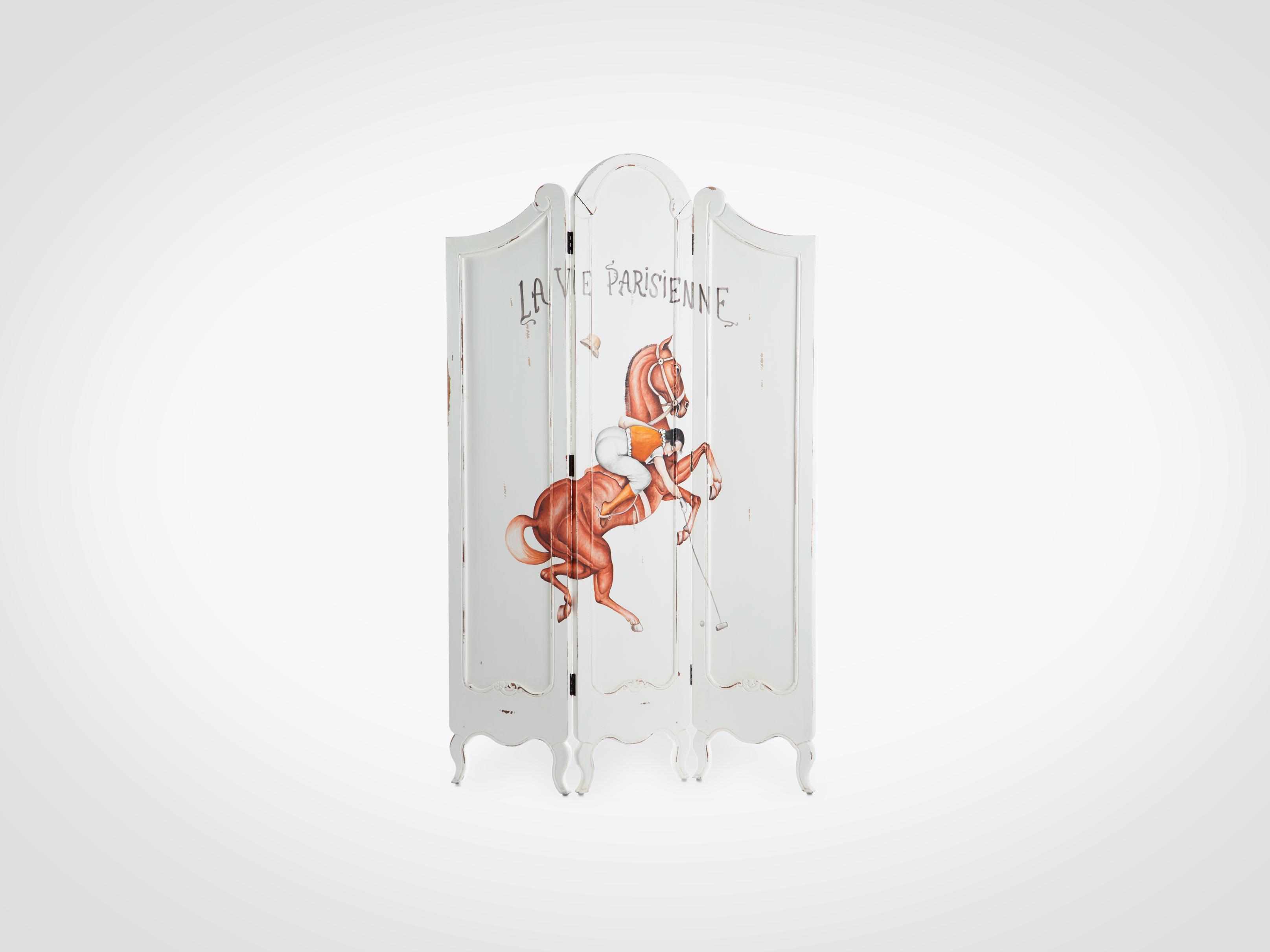 Купить Ширма расписная из дерева махагони, украшена росписью ручной работы 190x120x3 см, inmyroom, Индонезия