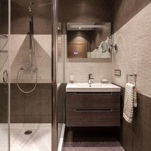 Фотография: Ванная в стиле Современный, Квартира, Проект недели, новостройка, Монолитный дом, 3 комнаты, Более 90 метров, ЖК «Миракс Парк» – фото на InMyRoom.ru