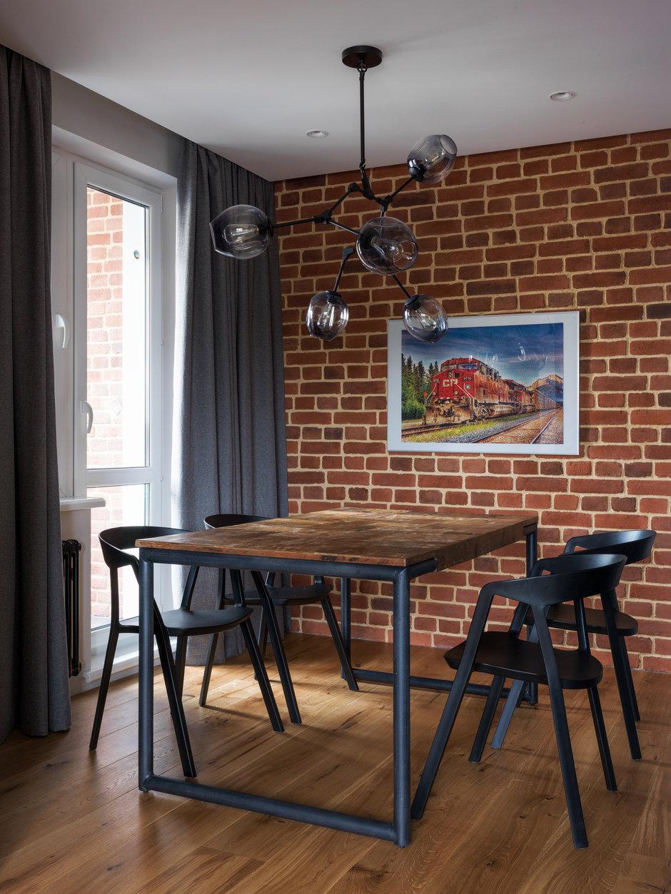 Фотография: Кухня и столовая в стиле Лофт, Современный, Квартира, Проект недели, Geometrium, Монолитный дом, 2 комнаты, 60-90 метров, ЖК «Сколковский» – фото на InMyRoom.ru