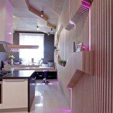 Фотография: Кухня и столовая в стиле Современный, Эклектика, Интерьер комнат, Проект недели, Перепланировка – фото на InMyRoom.ru