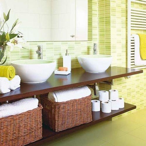 Фотография: Ванная в стиле Современный, Декор интерьера, Дизайн интерьера, Декор, Зеленый, Ванна, Эко – фото на InMyRoom.ru