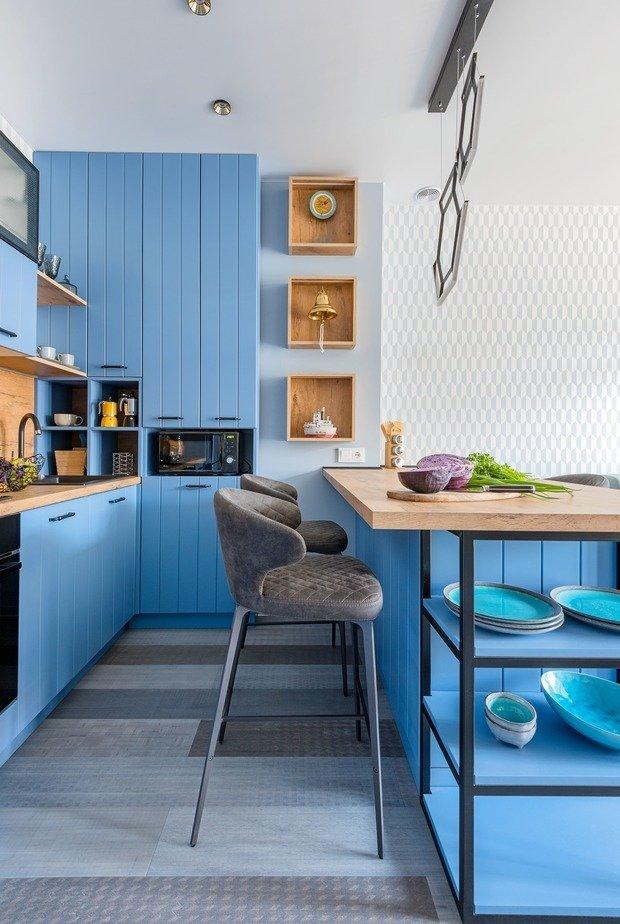 Фотография: Кухня и столовая в стиле Современный, Эко, Квартира, Проект недели, 2 комнаты, 40-60 метров, Светлогорск, Виктория Лазарева – фото на INMYROOM