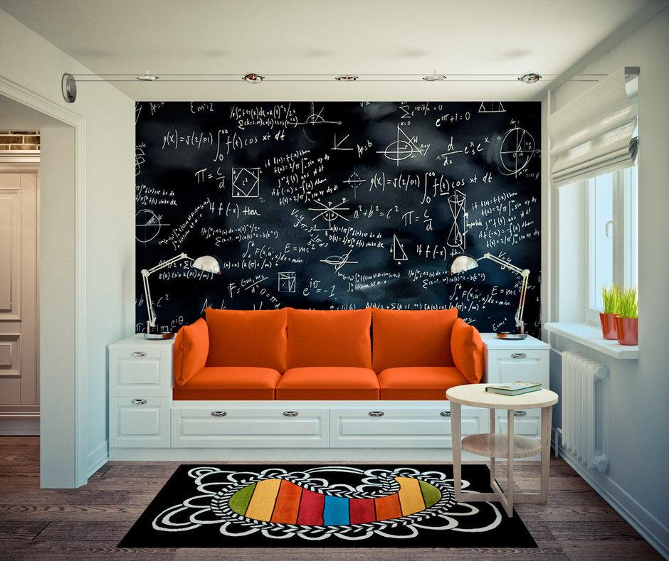 Фотография: Гостиная в стиле Лофт, Скандинавский, Эклектика, Квартира, Дома и квартиры, IKEA, Проект недели – фото на InMyRoom.ru