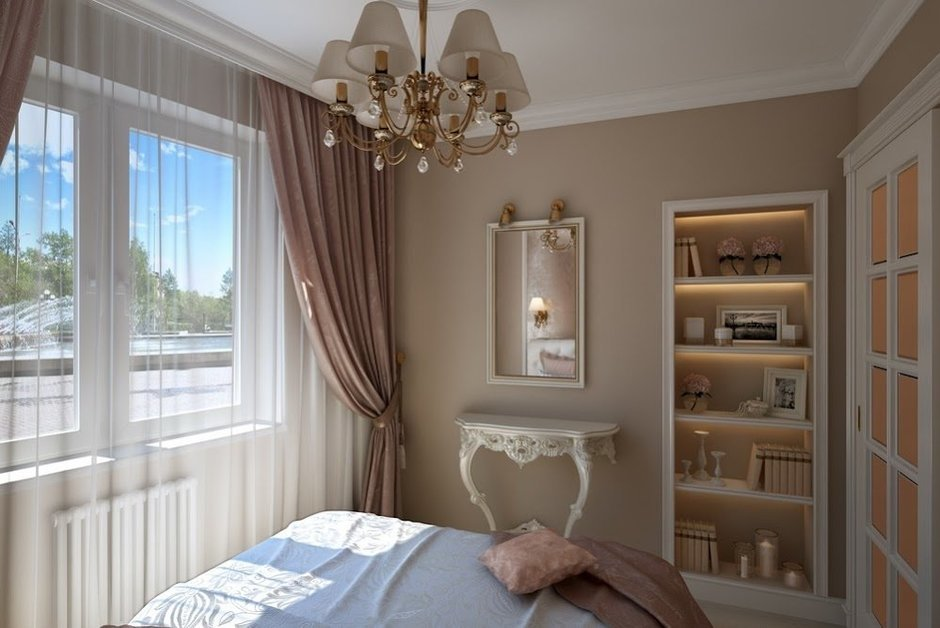 Фотография: Спальня в стиле Классический, Малогабаритная квартира, Дом, Дома и квартиры – фото на InMyRoom.ru