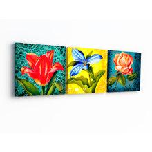 Модульная картина от дизайнера: Три цветка
