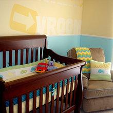 Фотография: Детская в стиле Современный, Декор интерьера, Дизайн интерьера, Цвет в интерьере, Стены – фото на InMyRoom.ru