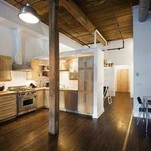 Фотография: Кухня и столовая в стиле Кантри, Малогабаритная квартира, Квартира, Дома и квартиры – фото на InMyRoom.ru