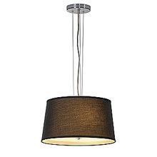 Светильник подвесной Corda серый металлик/ черный
