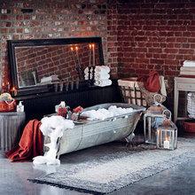 Фотография: Ванная в стиле Кантри, Декор интерьера, Мебель и свет – фото на InMyRoom.ru