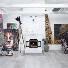 Фото из портфолио Творческая художественная атмосфера в интерьере – фотографии дизайна интерьеров на InMyRoom.ru