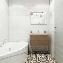 Фотография: Ванная в стиле Современный, Эклектика, Квартира, Минимализм, Проект недели – фото на InMyRoom.ru