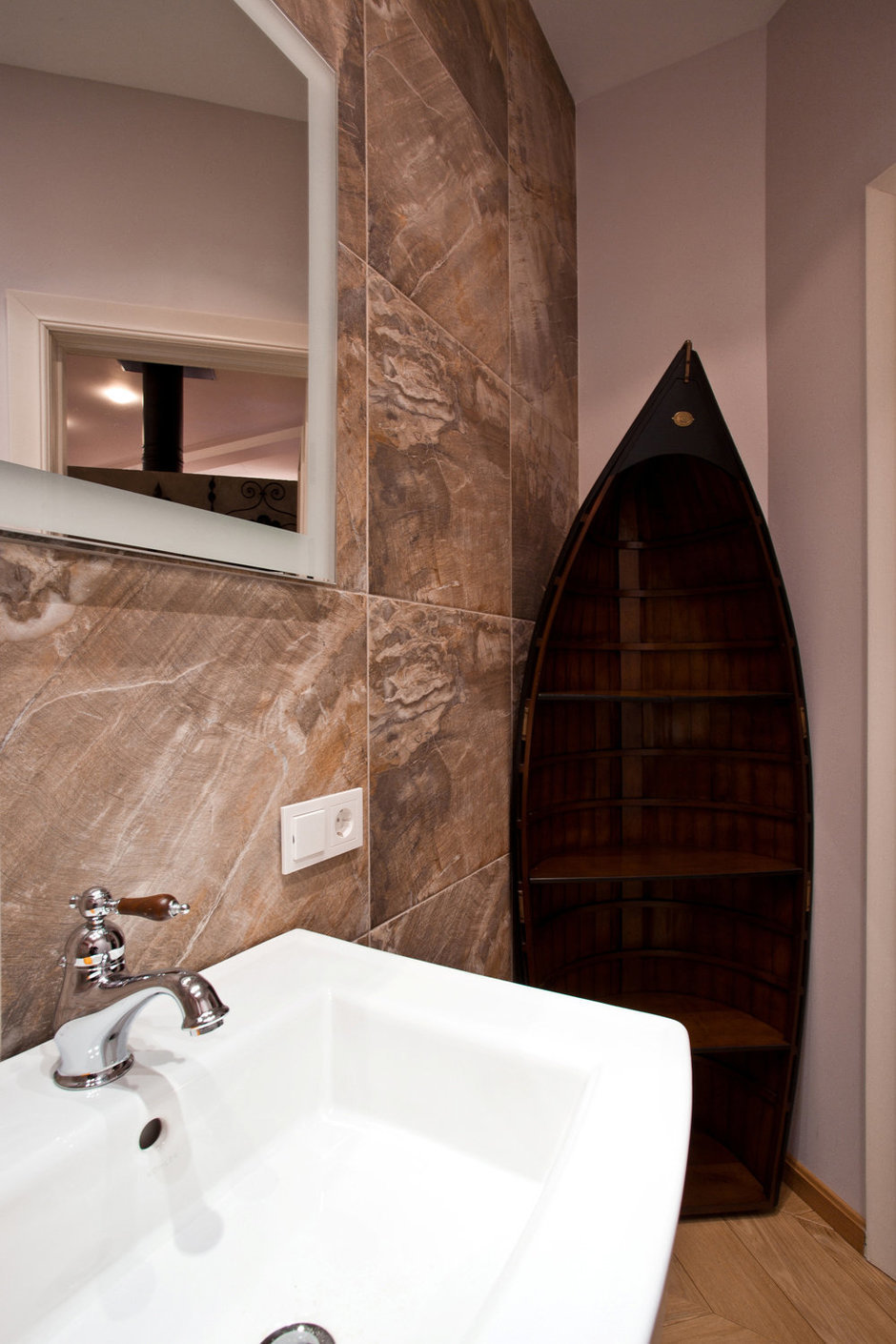 Фотография: Ванная в стиле Эклектика, Эко, Квартира, Проект недели – фото на InMyRoom.ru