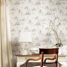 Фотография: Мебель и свет в стиле Кантри, Декор интерьера, Дизайн интерьера, Цвет в интерьере, Обои – фото на InMyRoom.ru