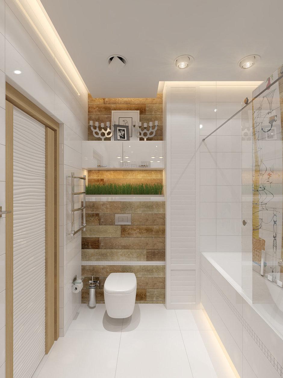 Фотография: Ванная в стиле Лофт, Современный, Малогабаритная квартира, Квартира, Хранение, Мебель и свет, Дома и квартиры, Проект недели – фото на InMyRoom.ru