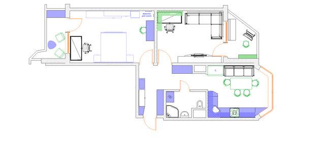 Фотография: Планировки в стиле , Квартира, Дома и квартиры, Перепланировка, П44т – фото на InMyRoom.ru