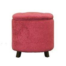 Розовый пуф-контейнер на ножках