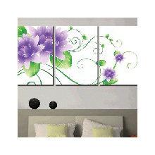 Модульная картина от дизайнера: Сиреневые хризантемы