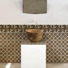 Фотография: Ванная в стиле Восточный, Декор интерьера, Декор дома, Стены, Плитка, Принт, Пол, Графика, Patricia Urquiola – фото на InMyRoom.ru