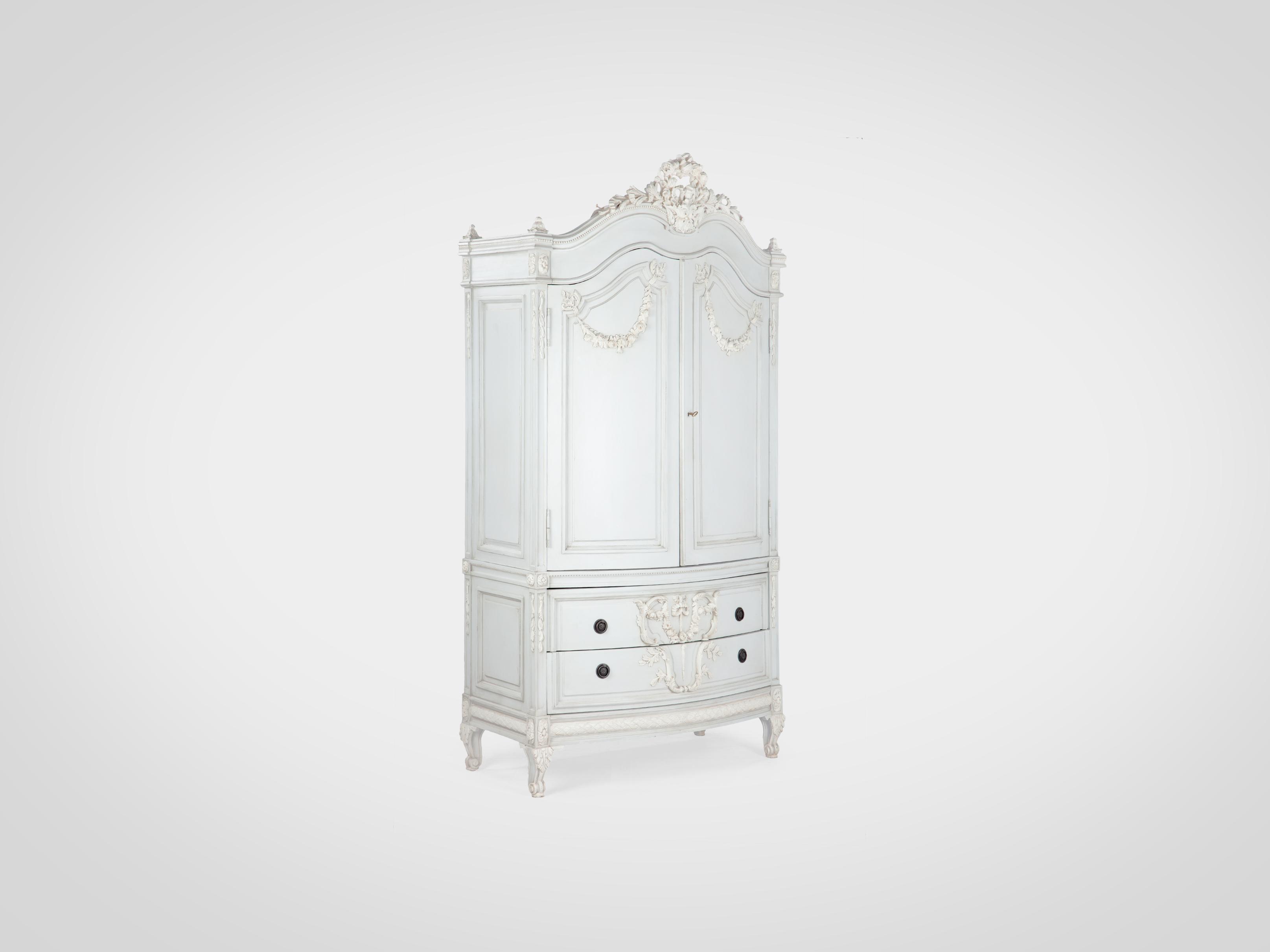 Купить Шкаф с резьбой ручной работы и патиной, inmyroom, Индонезия