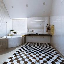Фото из портфолио Дом «Зодчество» - оптическая дистопия – фотографии дизайна интерьеров на INMYROOM