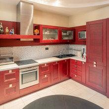 Фотография: Кухня и столовая в стиле Современный, Прихожая, Спальня, Квартира, Дома и квартиры – фото на InMyRoom.ru