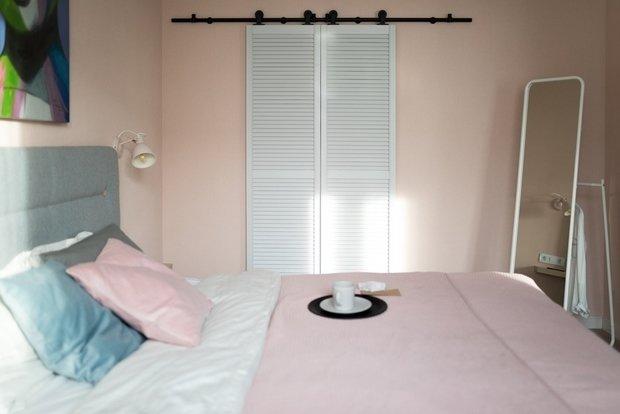 Фотография: Спальня в стиле Скандинавский, Современный, Квартира, Перепланировка, 1 комната, до 40 метров, Нина Иваненко – фото на INMYROOM