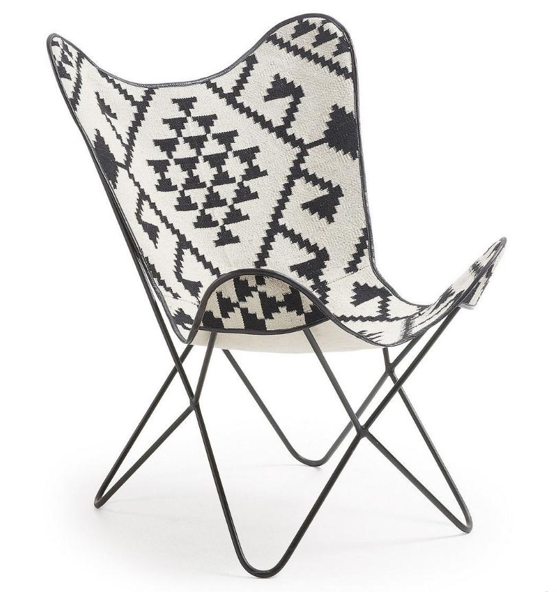 Купить со скидкой Кресло Julia Grup Flynn черно-белое