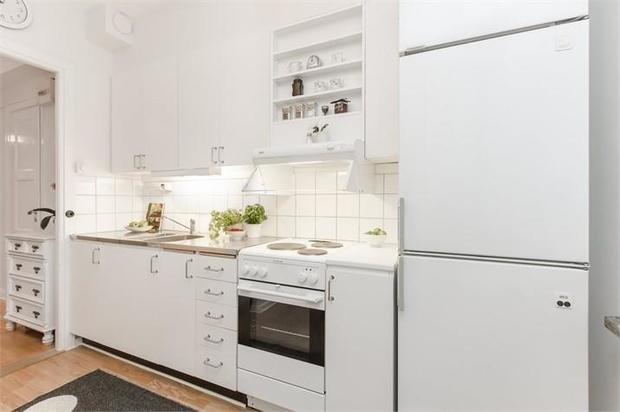 Фотография: Кухня и столовая в стиле Скандинавский, Малогабаритная квартира, Квартира, Швеция, Дома и квартиры, Стокгольм – фото на InMyRoom.ru