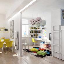 Фотография: Детская в стиле Современный, Декор интерьера, Квартира, Normann Copenhagen, Дома и квартиры, IKEA, Проект недели, Ligne Roset, B&B Italia, Качели – фото на InMyRoom.ru