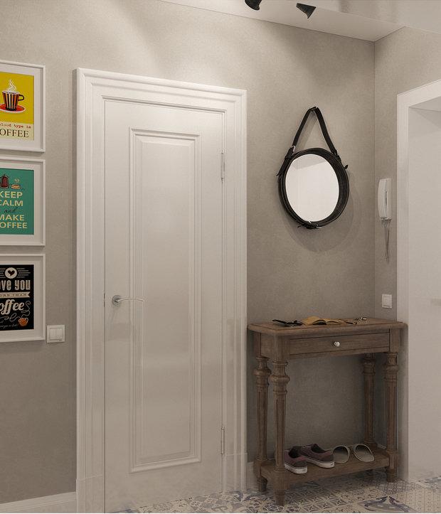 Фотография: Прихожая в стиле Скандинавский, Малогабаритная квартира, Квартира, Дома и квартиры, Проект недели – фото на InMyRoom.ru