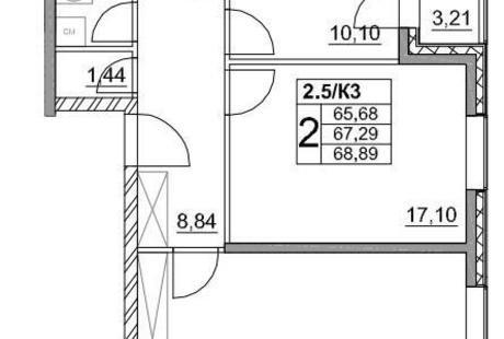 Планировка двушки 68 кв.м + поиск дизайнера. Москва