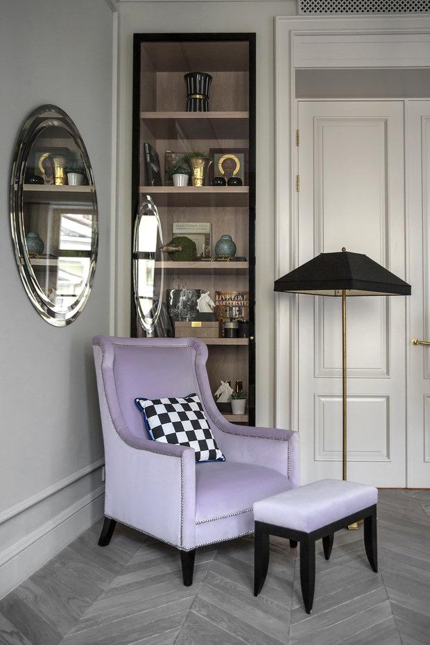 Фотография: Мебель и свет в стиле Классический, Квартира, Проект недели, Москва, Марина Филиппова, 2 комнаты, 60-90 метров, #эксклюзивныепроекты – фото на INMYROOM