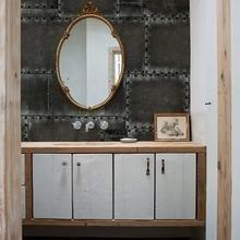 Фотография: Ванная в стиле Кантри, Классический, Современный, Карта покупок, Индустрия, Фотообои – фото на InMyRoom.ru